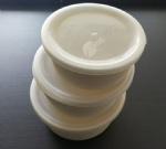 Set of 3 round storage box